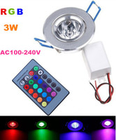 Wholesale basic color changing RGB LED recessed downlight mini led down light panel recessed