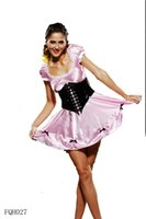 Wholesale Sexy PVC Uniform Women French Maid Outfit Dress Pink Satin A lined Dress Black PVC Corset Sets Plus Size Erotic Lingerie Role Play JIAOLUN