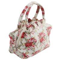 flower handbags - Women s Canvas small Bag Women Handbag Shoulder Bags Small Casual Cluth purse Girls Printing flower cosmetic bag tote