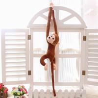 achat en gros de mariage poupée singe-Nouveau bébé jouets de cadeau d'année de poupées en peluche jouets Petit singe, mignon singe mascotte, bras long cadeaux poupée singe de mariage,