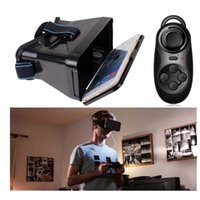 Wholesale 2016 Virtual Reality D Glass VR BOX Google Cardboard Bluetooth Controller Mouse BG vr glasses D headset Vision quot quot