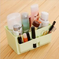 Wholesale Sample order Clear Makeup Organizer plastic Cosmetic Organizer Holder Storage Box Lipstick Make up Organizers Y30195