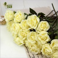Wholesale 60 Artificial Rose Silk Craft Flowers Real Touch Flowers For Wedding Christmas Room Decoration