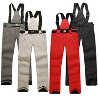 Wholesale Ski pants men and women unisex snowboarding pants lovers ski pants with straps sports trousers waterproof breathable warm