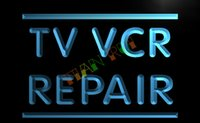advertising television - LB611 TM TV VCR Repair Television Reorder NEW Light Sign Advertising led panel jpg