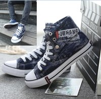 Cheap Retail men's canvas shoes!Spring leisure shoes,high top students shoes,High quality casual boys shoes,39-43 yards men Sneakers.1pair 2pcs.GX