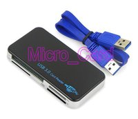 Wholesale All in One USB Multi slot Card Reader for SD MS M2 CF XD Micro SD TF Cards D2253A