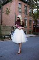 Wholesale Cheap Womens Party Clothes - 2016 Knee Length Tulle Tutu Skirts for Women Adults A-line Short Ball Gown Cheap Party Prom Petticoat Underskirts Womens Clothing