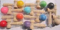Wholesale Free DHL Kid Kendama Ball Japanese Casual Traditional Jling Game Wood Hand eye Balance Skill Educational Toys