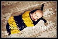 bee sleeping bag - Bee style handmade crochet photography props baby sleeping bag