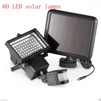 Wholesale 60 LED Solar Floodlight outdoor wall lamps garden lighting LED Flood Security Garden Projecting Landscape Lawn Light
