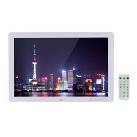 Wholesale 17 quot Scroll Caption Picture Album P High Resolution LED Digital Photo Frame Alarm Clock MP3 MP4 with Remote Control order lt no