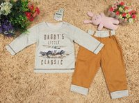 Wholesale Infant Outfits Boy Suit Toddler Clothes Long Sleeve T Shirt Long Trousers Baby Clothing Children Set