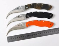 Wholesale professional copy Spyderco C36 G10 handle CPM S30V blade HRC folding knife outdoor camping survival tool gift Tactical knives