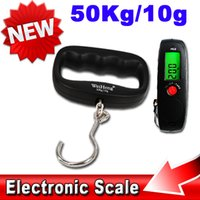 Cheap Hot Sell 50kg 10g Pocket Hand Held Lage Hanging Fish Hook Scale LCD Backlight Digital Electronic Balance lb g oz kg Weighing