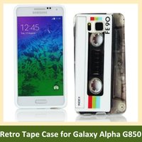cassette case - Retro Cassette Tape Print Soft TPU Gel Cover Phone Case for Samsung Galaxy Alpha G850
