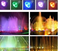 Wholesale 10W V Led RGB Underwater Light Waterproof IP68 Fountain Swimming Pool Lamp Colorful Change With Key IR Remote