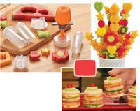Wholesale Fashion Hot Creative Kitchen Accessories Cooking Tools Plastic Fruit Shape Cutter Slicer Veggie Food Decorator Fruit Cutter