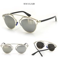sunglass 3025 - 2015 Coating Mirror Fashion Women Sunglasses SO REAL Brand Designer Sunglass Butterfly Alloy frame Sun Glasses UV400 S305