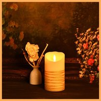 Wholesale led candle wax candle electron candl moving flame led candle rechargeable led candle flickering flameless candles electric birthday candle