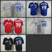 TORONTO BLUE JAYS JERSEYS - toronto blue jays jose bautista Cheap Wholesales Baseball Jersey Embroidery Name and Logo EME DHL