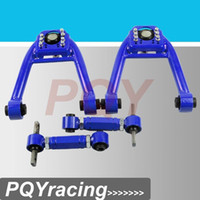 Wholesale J2 FOR CIVIC JDM LX DX EK EJ TUBULAR FRONT UPPER CONTROL ARM TUBE CAMBER KIT Adjustable Rear Camber Arms BLUE