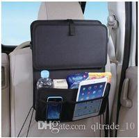 auto tool storage - 10pcs LJJC2176 Hot Sale Black Car Side Rear Trunk Storage Auto Car Seat Organizer Multi Pocket Travel Car Table Storage Bag Hanger Tool