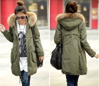 Wholesale Fashion Autumn Winter Women s Thick Cotton Liner Hooded Trench Coat Long Sleeve Outerwear Plus Size S XXL
