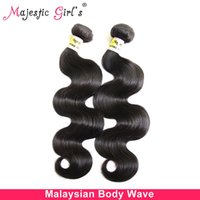 Cheap US Stock Hot selling Rosa Hair Products Virgin Malaysian Body Wave 2PCS LOT Hair Remy Human Hair Weaves Weft Free Shipping