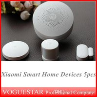 Wholesale Xiaomi Smart Home Devices kit with sensor gateway used in home install on windows door for security alarm one piece SHW004