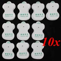 Wholesale 10PCS White Electrode Pads For Tens Acupuncture Digital Therapy Machine Massager