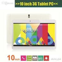 10 pulgadas MTK6572 Dual Core 1.2Ghz Android 4.2 WCDMA 3G Phone Call Tablet PC GPS bluetooth wifi de doble cámara con 2 tarjeta SIM Ranura PB10-G3