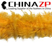 best craft supplies - Leading Supplier CHINAZP Crafts Factory yards Best Quality G Dyed Gold Turkey Chandelle Feather Boa