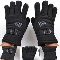 fleece gloves - Full Finger Fleece Warmer Bicycle Bike Gloves Protective Gloves Motorbike Motorcycle Gloves New Racing Bike Bicycle Cycling Gloves