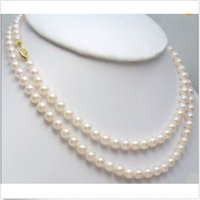 Wholesale GENUINE MM AAA WHITE JAPANESE AKOYA PEARL NECKLACE quot k GIFT EARRING
