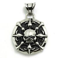 amazing pendants - Silver Skull Motor Biker Hot Pendant Stainless Steel Amazing Design Fashion Skull Biker Pendant
