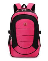 Wholesale Hot Sell Laptop Bag Backpack Men Notebook Laptop bag Women Backpack Female Male Black Nylon Waterproof Travel Backpack