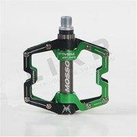 Wholesale MOSSO Mountain Bike Pedals Flat Sealed Bearing Bicycle Pedals Brand New Bike Blue Green Pedals Parts