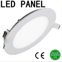 Wholesale LED Panel Light w w w w w w w LED Downlight led recessed ceiling light SMD2835 panel lights AC85 V CE ROHS UL FCC