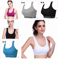 Wholesale Professional sports bra wireless shockproof running vest design young girl bra yoga push up fitness running sports bra G0134