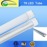 Wholesale UL DLC ETL CE ROHS W T8 LED Tube AC90 V Warm Cool White PC Cover Degree Stock in USA freight tax