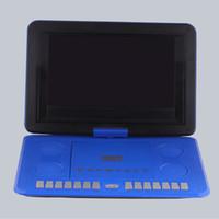 al por mayor tarjeta de tv analógica-DVD, reproductores de VCD Reproductor de DVD portátil de 13,8 pulgadas HD TV con lector de tarjetas USB analógico Radio Juegos Pantalla de alta definición giratoria 10,2