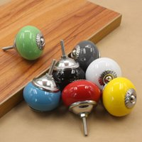 base cabinet drawers - child kids color ceramic door knob handle pull with silver base for cabinet kitchen and drawer