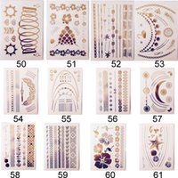 Airbrush Compressor face stickers - body art painting tattoo stickers glitter Metal gold silver temporary flash tattoo Disposable The indians tattoo