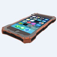 Cheap waterproof Metal Frame Aluminum Gundam Outdoor Climbing Silicon Cover Case for iPhone 6 case 4.7inch Tempered Glass