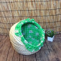 Wholesale spring and rattan straw houses pet cats cat litter Teddy Bichon small kennel washable breathable environmental protection