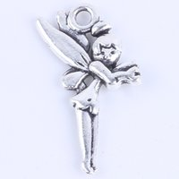fairy charms - New fashion silver copper retro fairy Pendant Manufacture DIY jewelry pendant fit Necklace or Bracelets charm w