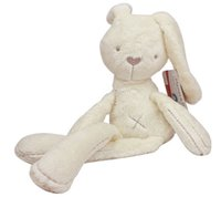 best baby comfort - Mamas Papas Baby Cute Short Plush Lovely Beige Bunny Doll Appease Sleeping Comfort Stuffed Rabbit Cartoon Bunny Plush Rabbit Best Gifts
