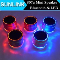 2 mini radio - Speakers Subwoofer S07U LED Light Bluetooth Speaker Mini Portable Wireless Speaker Box Outdoor Soundbar Speaker with USB TF Card Handsfree