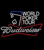 air poker - Budweiser World Poker Tour Neon Sign Avize Neon Nikke Air Jorrdan Neon Sign Real Glass Tube Custom LOGO Free Design